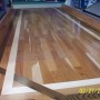 Hickory with Walnut and Painted Borders